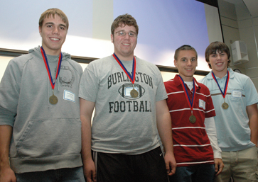 [The winning team of the 2007 High School Design Competition at KU, Burlington High School's Thundercats]